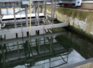 Aguas residuales provenientes de la industria textil luego de tratamiento con Solución desarrollada por Amapex